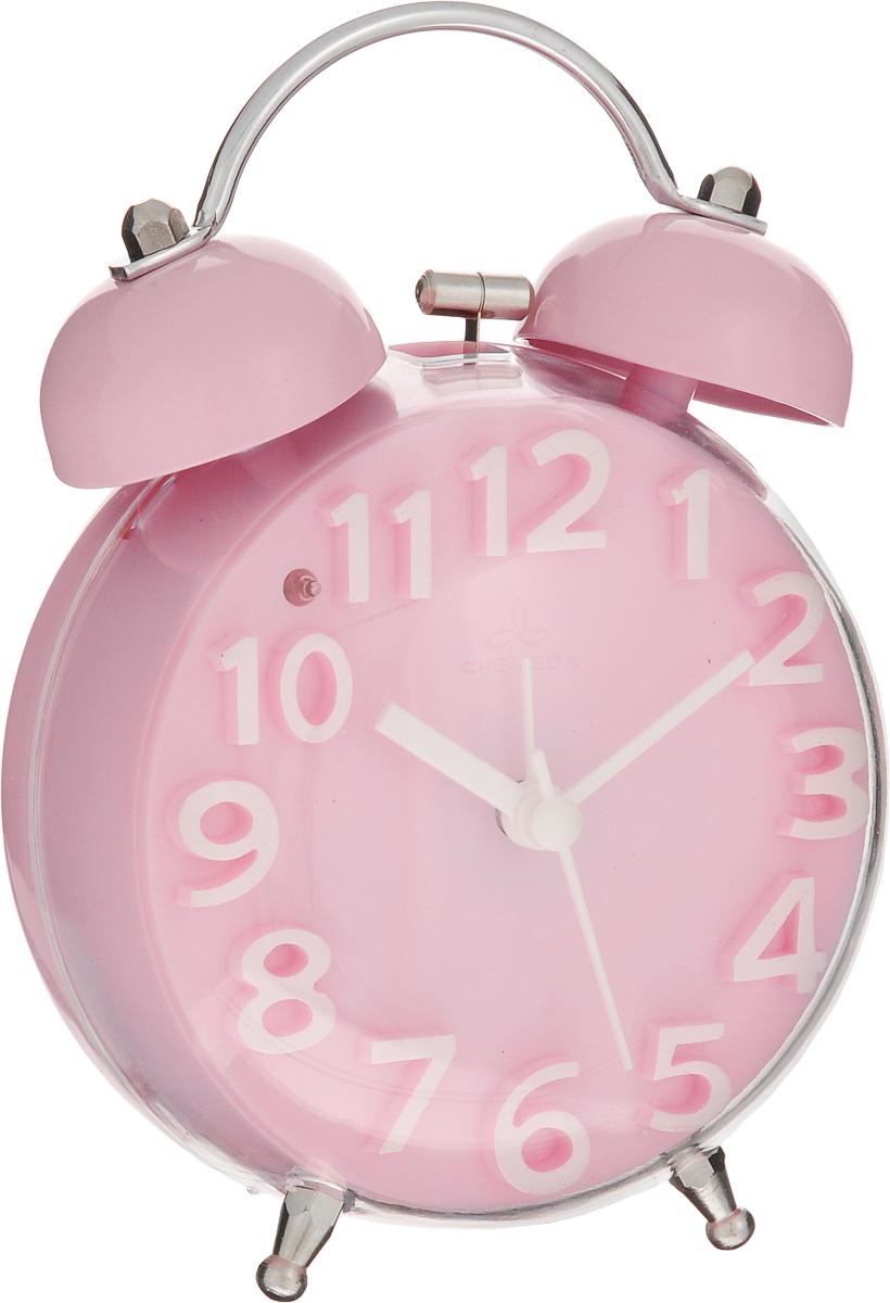 Часы-будильник Sima-land, цвет: розовый. 911447911447_розовыйКак же сложно иногда вставать вовремя! Всегда так хочется поспать еще хотя бы 5 минут и бывает, что мы просыпаем. Теперь этого не случится! Яркий, оригинальный будильник Sima-land поможет вам всегда вставать в нужное время и успевать везде и всюду. Корпус будильника выполнен из пластика. Циферблат имеет индикацию белыми арабскими цифрами. Часы снабжены 4 стрелками (секундная, минутная, часовая и для будильника). На задней панели будильника расположена кнопка включения/выключения механизма, а также два колесика для настройки текущего времени и времени звонка будильника. Также будильник оснащен кнопкой, при нажатии которой подсвечивается циферблат. Пользоваться будильником очень легко: нужно всего лишь поставить батарейку, настроить точное время и установить время звонка. Необходимо докупить 1 батарейку типа АА (не входит в комплект).