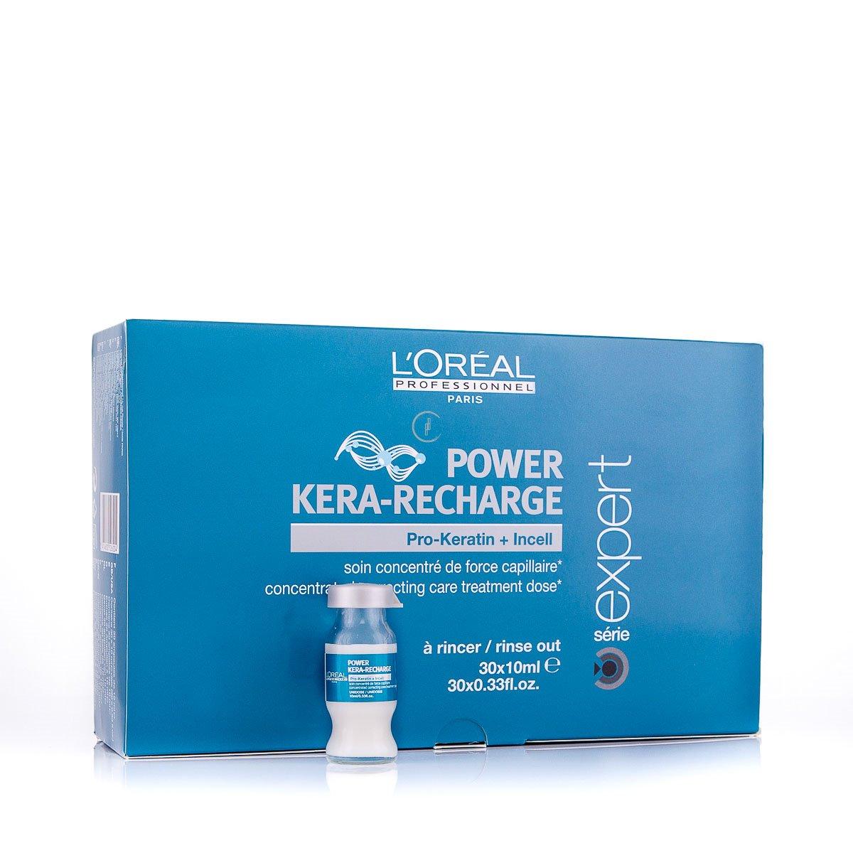 LOreal Professionnel Концентрированная корректирующая монодоза-уход для поврежденных волос Expert Pro-Keratin Refill Power Kera-Recharge - 30*10 млE0526204Концентрированная корректирующая монодоза с креатином Pro-Keratin Refill. Средство предназначено для разглаживания сильно поврежденных волос или особенно чувствительных зон, требующих дополнительного ухода волос и интенсивно питает ослабленные, поврежденные и ломкие волосы, увеличивает объем и дает плотность тонким волосам. Защищает волосы от воздействия УФ-излучения, вредных влияний внешней среды. Активные компоненты: Pro-кератин, молекулы Incell, протеины пшеницы, аргинин, фруктовые экстракты.