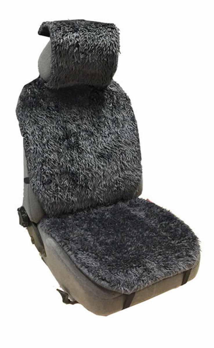 Накидка Auto premium на полное сидение, цвет: серый. 4710247102Накидка на сиденье автомобиля выполненна из искуственного меха. Универсальный размер позволит установить накидку на любой тип седения автомобиля. Незаменимый аксесуар при эксплатации автомобиля в зимний период.