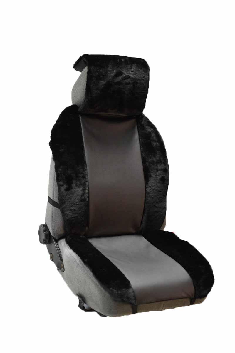 Накидка Auto premium на полное сидение, цвет: черно-серый. 4711347113Комбинированная накидка из экокожи и искуственного меха. Стильное и практичное решение для салона автомобиля. Экокожа обеспечит долговечность использования накидки, а искуственный мех сделает сиденье автомобиля еще более комфортным. Долговечная и в то же время теплая накидка в Ваш автомобиль.