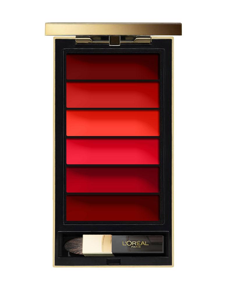 LOreal Paris Палитра красных оттенков помад Color Riche, оттенок 02, Red, 74 г1301210Создайте желанный образ с помощью палитры из шести любимых оттенков культовых помад Color Riche. Разнообразие насыщенных пигментов и чувственной текстуры, роскошное зеркало и дизайнерская кисть - все, что нужно, чтобы сделать губы по-настоящему притягательными.