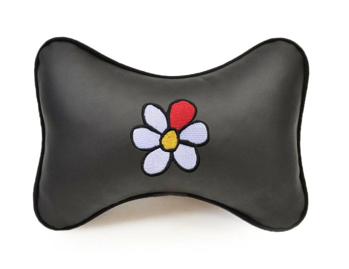 """Подушка на подголовник Auto premium """"Цветок"""", цвет: черный. 37224"""