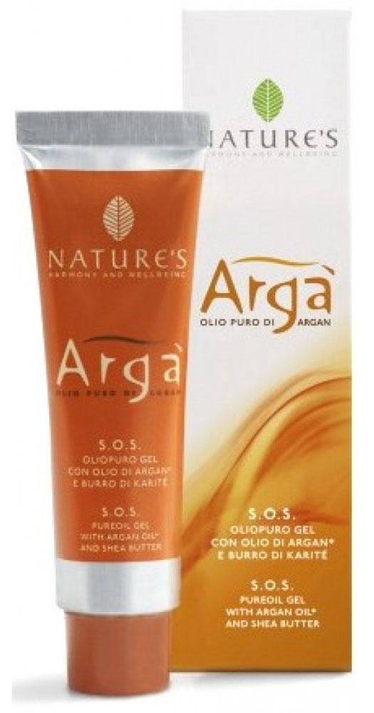 Natures Масло-бальзам Arga. S.O.S., 40 млFS-00897Превосходный бальзам Natures Arga. S.O.S. на основе масла Арганы с добавлением масла Ши настоящая скорая помощь для сухой, раздраженной или потрескавшейся кожи. Мягко снимает покраснение и шелушение, обладает заживляющим эффектом. Оживляет и восстанавливает пересушенные солнцем и другими агрессивными факторами волосы, предотвращая образование секущихся кончиков. Бальзам можно использовать по мере необходимости в любое время суток как увлажняющее, питательное, защитное средство. Гелевая структура облегчает нанесение и удобна в использовании. Возможное изменение цвета является признаком натуральности компонентов и не влияет на качество продукта.Не содержит парабенов, ПЭГ и минеральные масла. Характеристики:Объем: 40 мл. Производитель: Италия. Артикул:60150603. Товар сертифицирован.