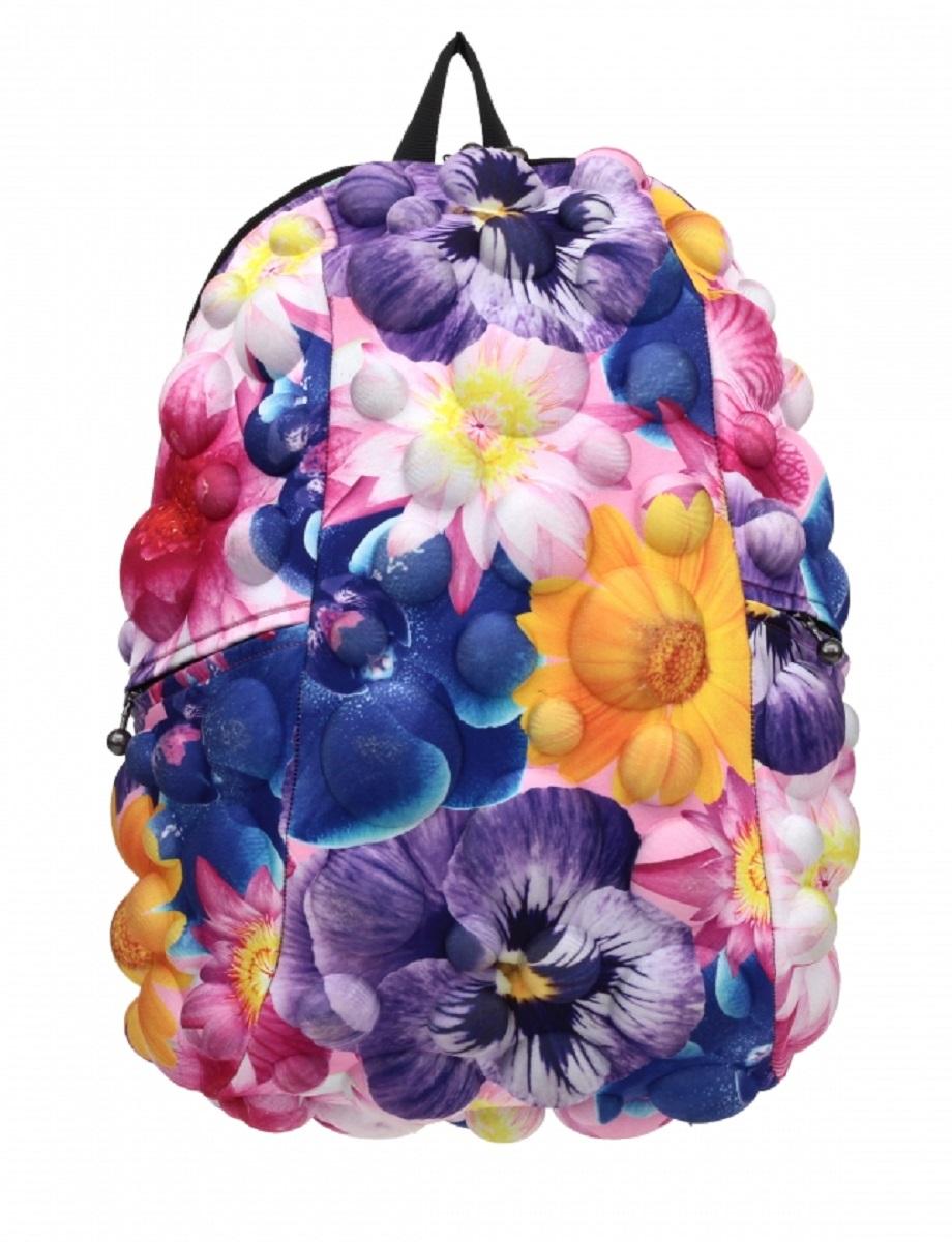 Рюкзак молодежный MadPax Bubble Full Flower, 33 лK60K600713Стильный и практичный рюкзак MadPax Bubble Full Flower, уместный в ритме большого города. Основное отделение закрывается на молнию. Внутри изделия есть отделение для ноутбука с максимальным размером диагонали 17 дюймов. По бокам - два дополнительных кармана на молнии. Модель помимо лямки для переноски в руке, мягких и широких регулируемых бретелей снабжена фиксацией на груди. Полностью вентилируемая и ортопедическая спинка создаёт дополнительный комфорт Вашей спине.