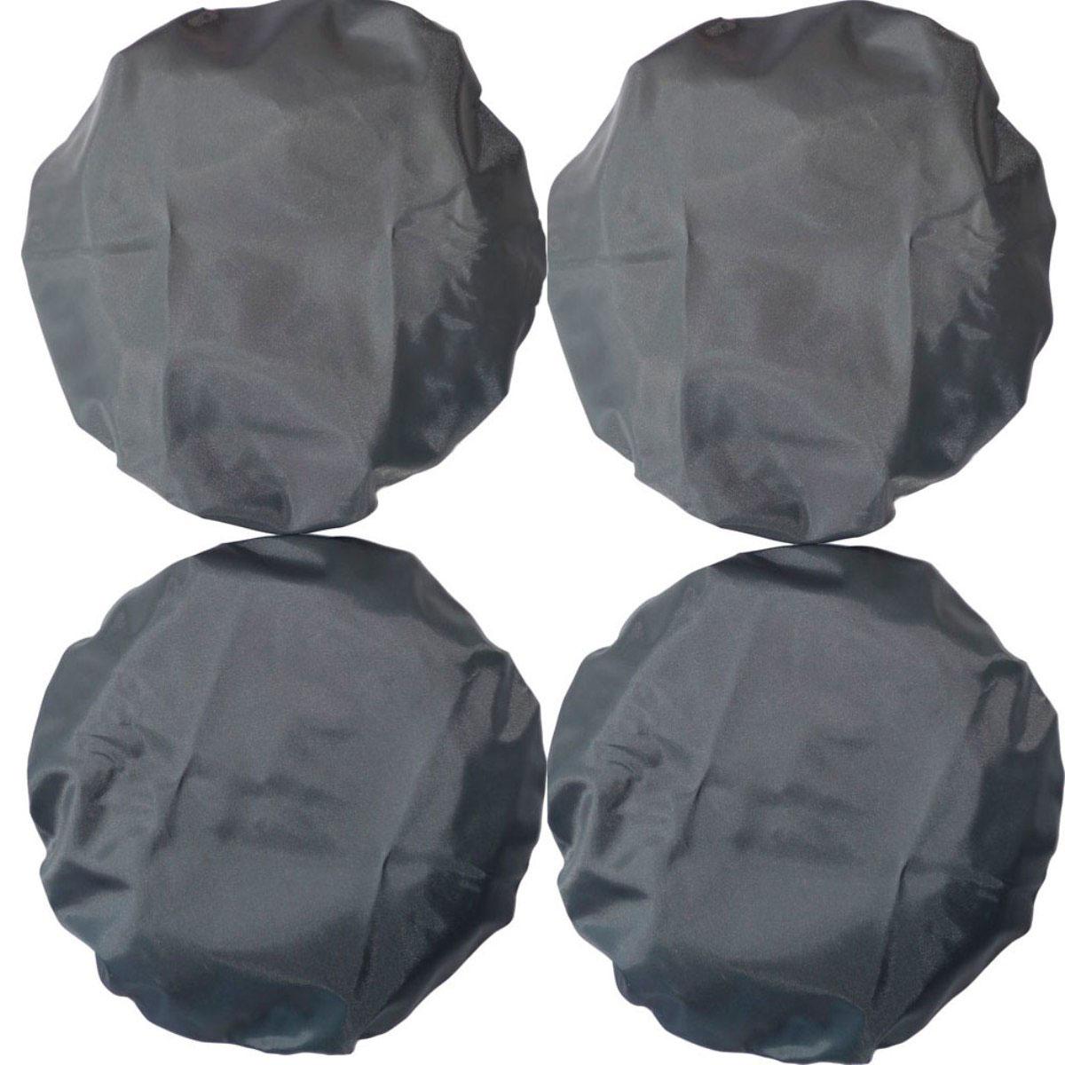 Чудо-Чадо Чехлы на колеса для коляски диаметр 18-28 см цвет мокрый асфальт 4 шт CHK02-001