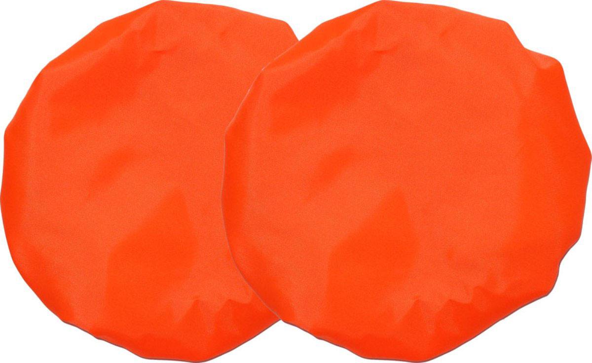 Чудо-Чадо Чехлы на колеса для коляски диаметр 28-38 см цвет оранжевый 2 шт