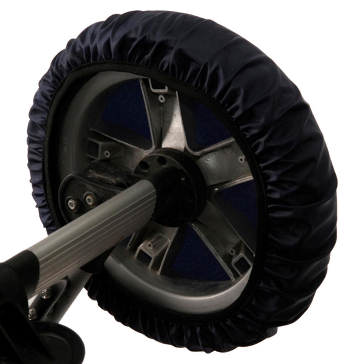 Чудо-Чадо Чехлы на колеса для коляски диаметр 28-38 см цвет темно-синий 2 шт