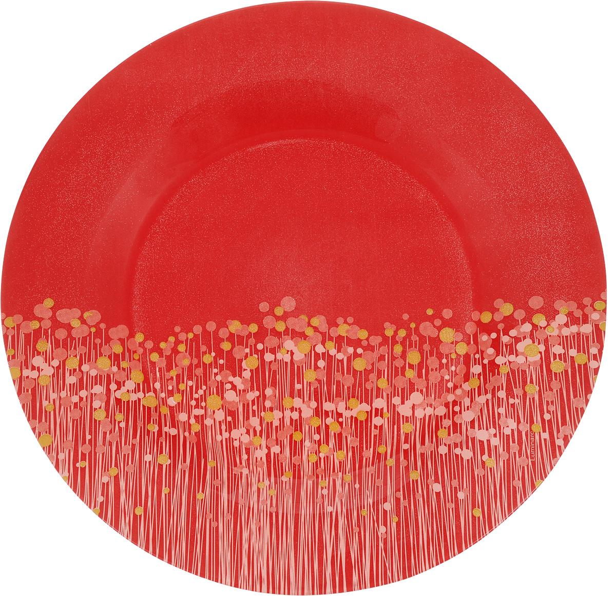 Тарелка Luminarc Flowerfield Red, диаметр 25 смH2482Яркая тарелка Luminarc Flowerfield Red выполнена из ударопрочного стекла и имеет классическую круглую форму. Она прекрасно впишется в интерьер вашей кухни и станет достойным дополнением к кухонному инвентарю. Тарелка Luminarc Flowerfield Red подчеркнет прекрасный вкус хозяйки и станет отличным подарком. Диаметр тарелки (по верхнему краю): 25 см.