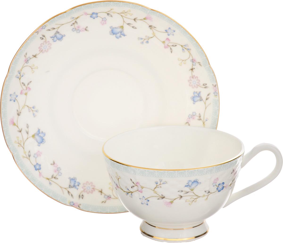Чайная пара Elan Gallery Нежное утро, 250 мл, 2 предмета530045Чайная пара Elan Gallery Нежное утро состоит из чашки и блюдца, изготовленных из керамики высшего качества, отличающегося необыкновенной прочностью и небольшим весом. Яркий дизайн, несомненно, придется вам по вкусу. Чайная пара Elan Gallery Нежное утро украсит ваш кухонный стол, а также станет замечательным подарком к любому празднику. Не рекомендуется применять абразивные моющие средства. Не использовать в микроволновой печи. Объем чашки: 250 мл. Диаметр чашки (по верхнему краю): 10,5 см. Высота чашки: 7 см. Диаметр блюдца: 15 см. Высота блюдца: 1,5 см.
