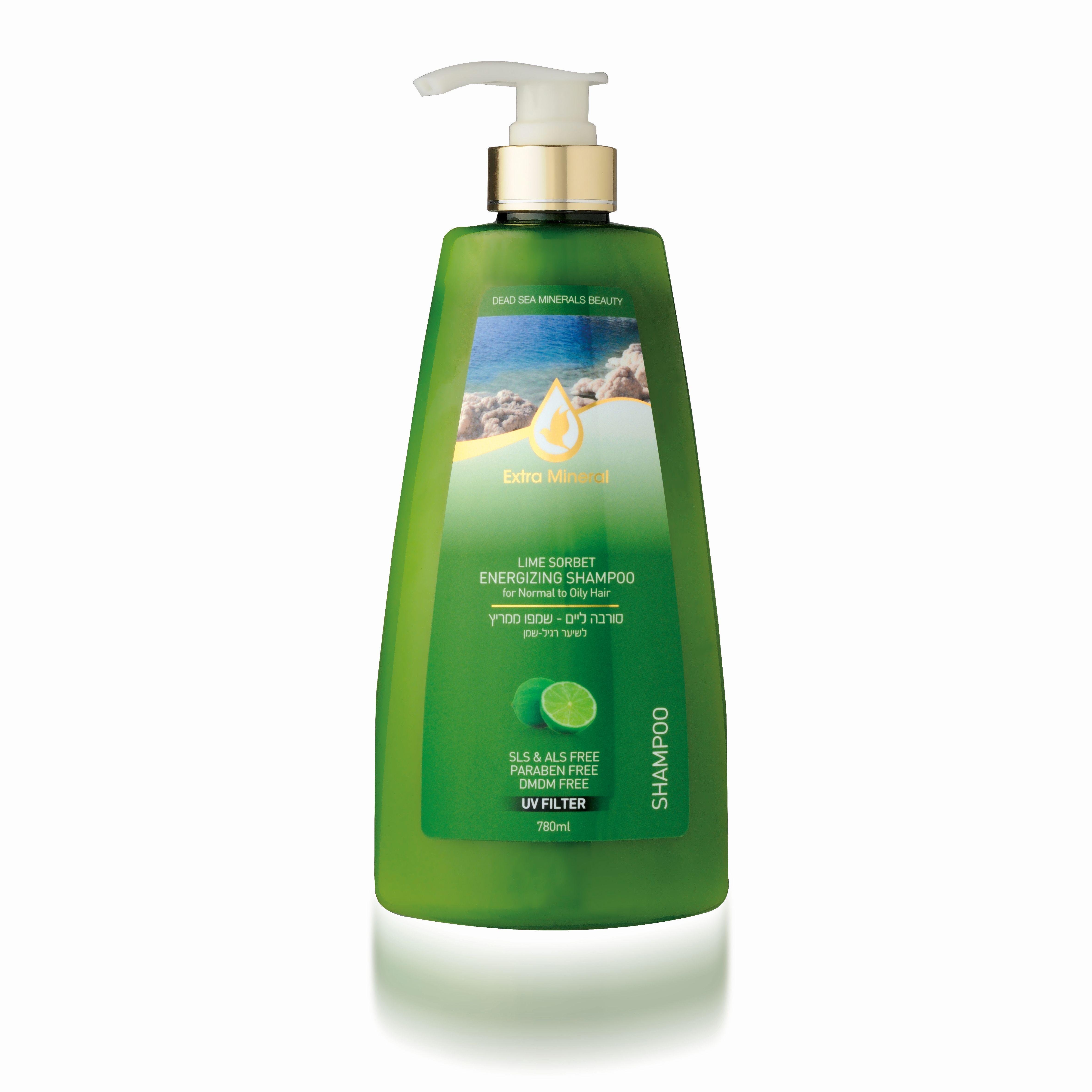 Extra Mineral Шампунь для жирных волос с лаймовым щербетом 780 млEXM2002Шампунь Extra Mineral с лаймовым щербетом, бодрящий, увлажняющий. Обогащен минералами Мертвого моря. Содержит золотой мед, масло жожоба, экстракт лайма, минералы Мертвого моря. В составе содержит UV-фильтр, который защищает волосы от ультра-фиолетовых лучей, очищает волосы от соли, хлора и песка, восстанавливает баланс кожи головы. Волшебное сочетание активных натуральных компонентов благотворно влияет на волосы и кожу головы, волосы увлажняются и питаются, становятся шелковистыми. Нежная легкая пена дает ощущение свежести. Вы сразу почувствуете, как волосы начинают дышать, а изысканный аромат лайма не оставит вас равнодушным и даст заряд бодрости на целый день! Благодаря активному действию минералов Мертвого моря волосы насыщаются необходимыми минералами, волосы оздоравливается, улучшается их внешний вид; улучшается клеточный метаболизм кожи головы и лица, стимулируется синтез белка, повышается регенерация клеток. Минералы обладают сильными антиаллергенными свойствами и являются...