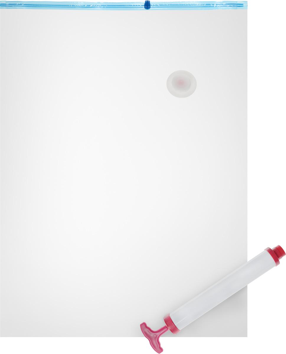 Набор пакетов вакуумных Home Queen, с насосом, 70 х 100 см, 2 шт10503Вакуумные пакеты Home Queen предназначены для долговременного хранения вещей. Они отлично защитят вашу одежду от пыли и других загрязнений и поможет надолго сохранить ее безупречный вид. Пакеты изготовлены из высококачественного полиэтилена. В комплект входит ручной насос. Достоинства пакетов Home Queen:- вещи сжимаются в объеме на 75%, полностью сохраняя свое качество;- вещи можно хранить в течение целого сезона (осенью и зимой - летний гардероб, летом - зимние свитера, шарфы, теплые одеяла);- надежная защита вещей от любых повреждений - влаги, пыли, пятен, плесени, моли и других насекомых, а также от обесцвечивания, запахов и бактерий;- воздух легко можно откачать ручным насосом.Комплектация: 2 пакета, насос.