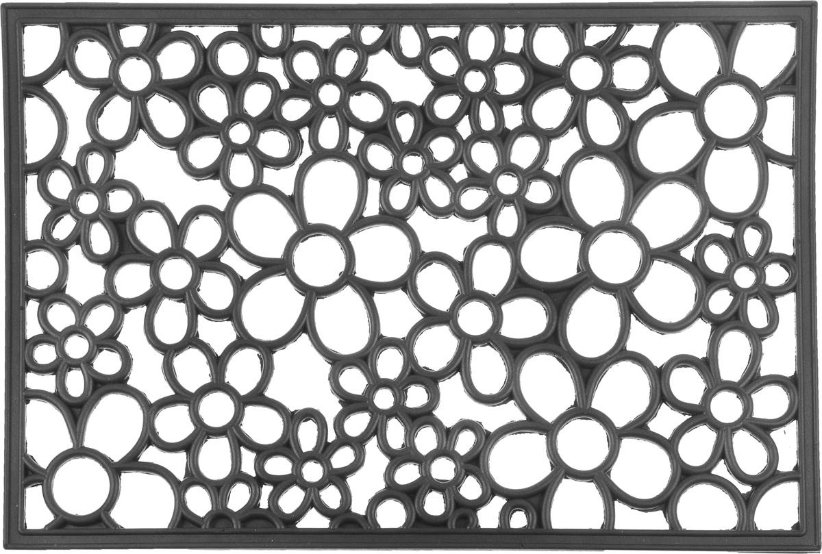 Коврик придверный SunStep Цветы, 60 х 40 см30-015Придверный коврик SunStep Цветы, выполненный из резины, прост в обслуживании, прочный и устойчивый к различным погодным условиям. Его основа предотвращает скольжение по гладкой поверхности и обеспечивает надежную фиксацию. Такой коврик защитит помещение от уличной пыли и грязи.