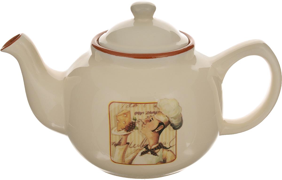 Чайник заварочный Terracotta Шеф-повар, 1 лVT-1520(SR)Заварочный чайник Terracotta Шеф-повар изготовлен из высококачественной глазурованной керамики. Изделие оснащено удобной ручкой и крышкой. Элегантный чайник поможет заварить крепкий ароматный чай и великолепно украсит стол к чаепитию.Диаметр чайника (по верхнему краю): 8,5 см. Высота стенок (без учета крышки): 12,5 см.