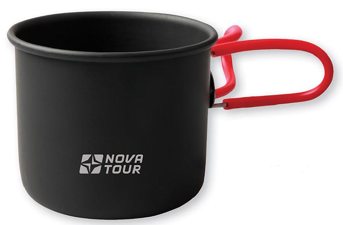 Кружка NOVA TOUR со складными ручками, цвет: черный, красный, 400 мл080302017Легкая и компактная походная кружка NOVA TOUR изготовлена из анодированного алюминия. Благодаря своей конструкции со складывающимися ручками, изделие занимает минимум места при транспортировке. Кружка NOVA TOUR - это идеальный вариант для походов и отдыха на природе. Отличается особой легкостью и компактностью, поэтому ее без проблем можно поместить в рюкзак.