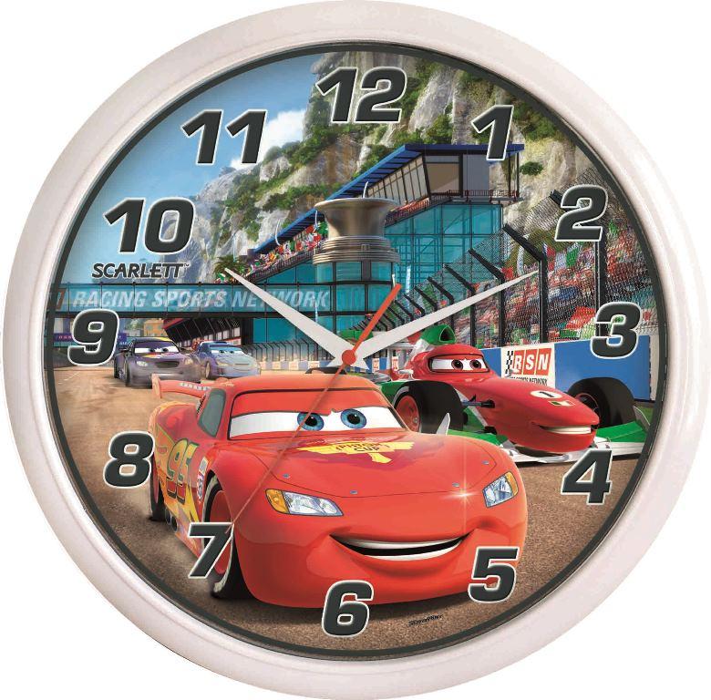 Часы настенные Scarlett, диаметр 29 см. SC - WCD02CSC - WCD02CНастенные кварцевые часы Scarlett , изготовленные из пластика, прекрасно впишутся в интерьер вашего дома. Круглые часы имеют три стрелки: часовую, минутную и секундную, циферблат защищен прозрачным пластиком. Часы работают от 1 батарейки типа АА напряжением 1,5 В (батарейка в комплект не входит). Диаметр часов: 29 см.