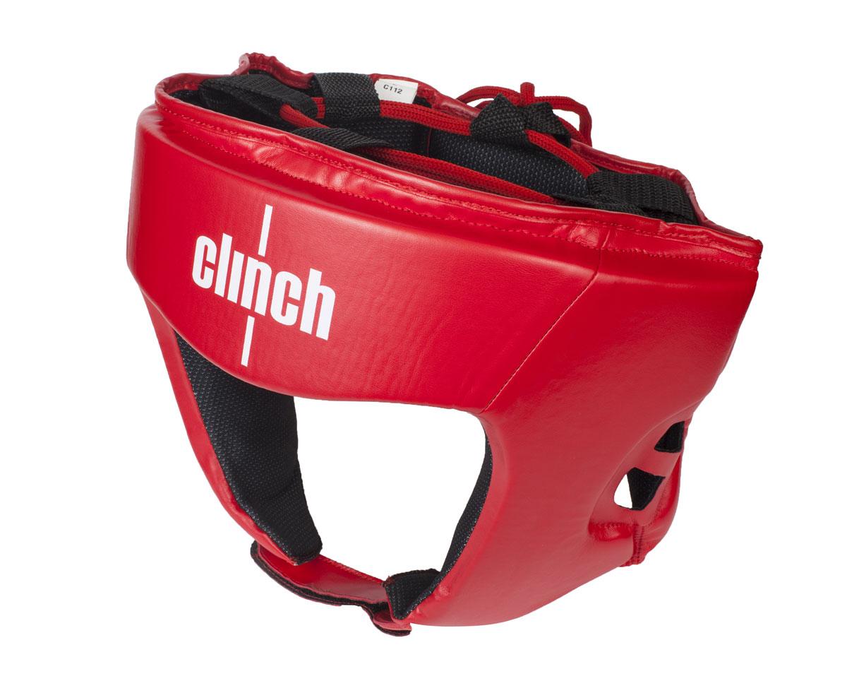 """Шлем боксерский Clinch """"Olimp"""", цвет: красный. Размер: S (50-54 см) C112"""