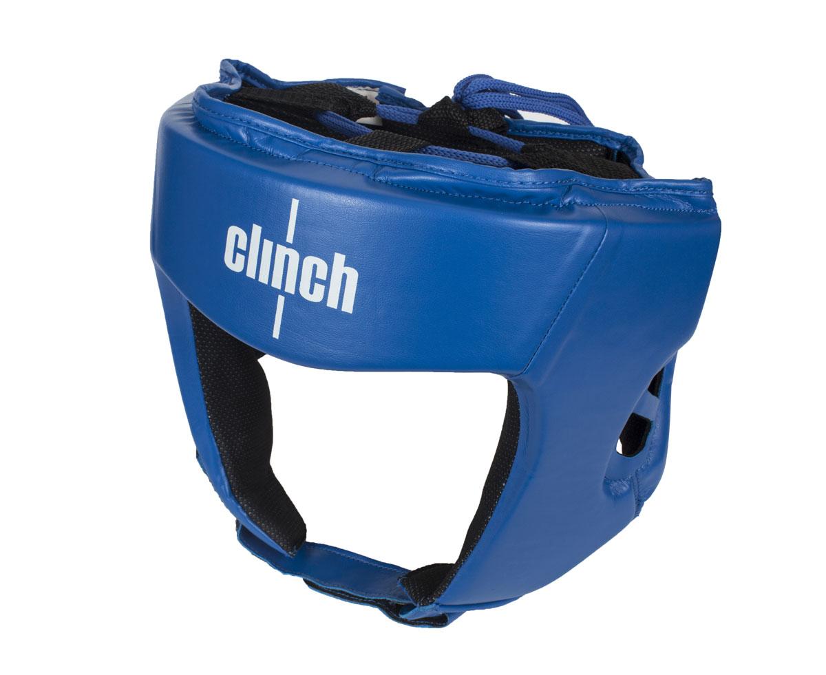 "Шлем боксерский Clinch ""Olimp"", цвет: синий. Размер: M (54-58 см) C112"