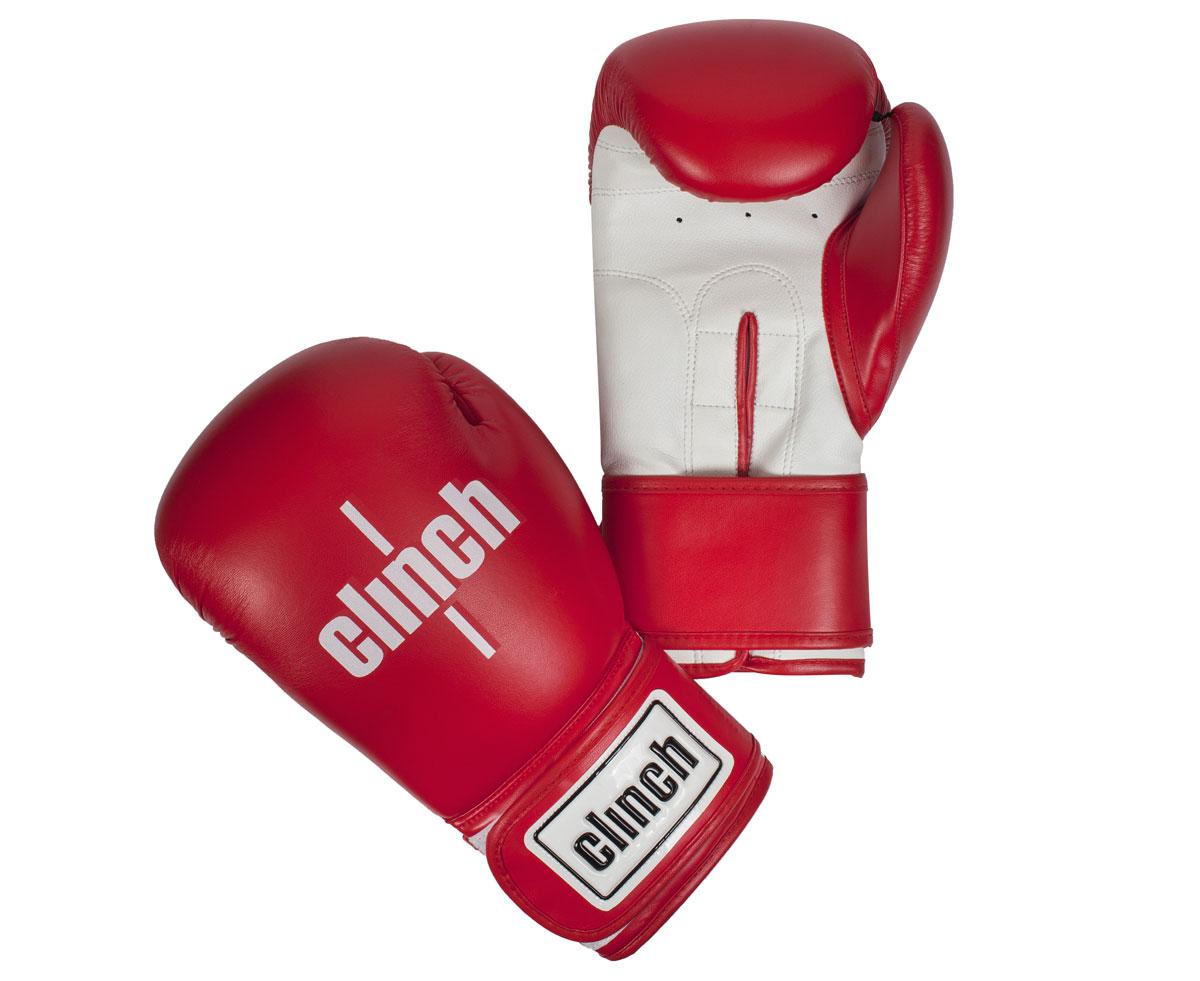 Перчатки боксерские Clinch Fight, цвет: красно-белый, 10 унций. C133C133Боксерские перчатки Fight. Изготовлены эластичного полиуретана Flex PU. Многослойный пенный наполнитель. Широкая манжета из искусственной кожи на липучке велкро.