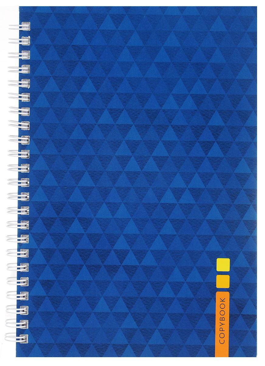 Listoff Тетрадь Синий орнамент 100 листов в клеткуТС51004247Тетрадь Listoff Синий орнамент подойдет как школьнику, так и студенту. Обложка тетради выполнена из прочного картона и оформлена синим треугольным орнаментом. Внутренний блок тетради на гребне состоит из 100 листов белой бумаги с линовкой в клетку фиолетового цвета без полей.