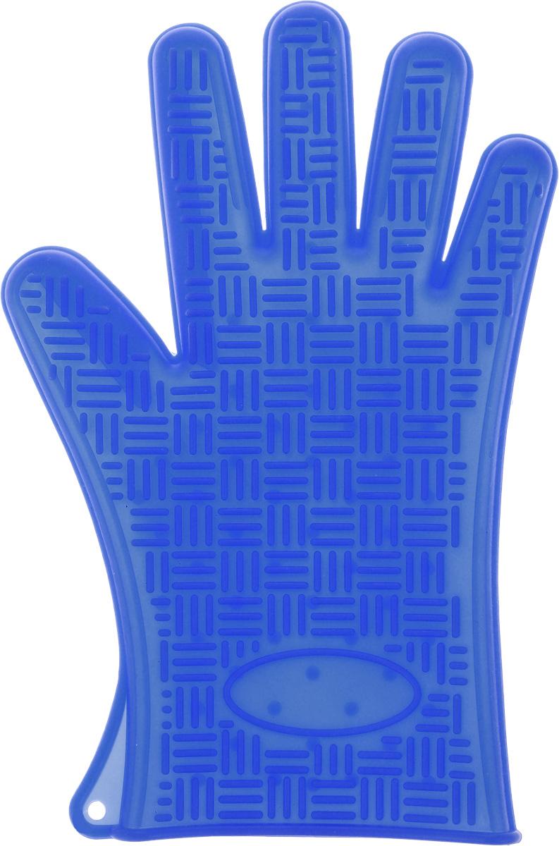 Прихватка-перчатка Mayer & Boch, силиконовая, цвет: синий, 26,5 х 17 см22082_синийНеобыкновенно яркая и практичная прихватка-перчатка Mayer & Boch выполнена из мягкого и прочного силикона. Очень приятная на ощупь, невероятно гибкая, выдерживает большой перепад температур от -60°C до +230°С. Удобно и прочно сидит на руке. С помощью такой прихватки ваши руки будут защищены от ожогов, когда вы будете ставить в печь или доставать из нее выпечку.