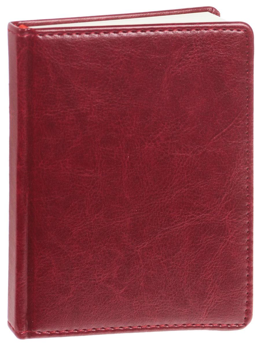 Listoff Записная книжка 96 листов в клетку цвет бордовый72523WDЗаписная книжка Listoff - незаменимый атрибут современного человека, необходимый для рабочих и повседневных записей в офисе и дома. Записная книжка содержит 96 листов формата А6 в клетку. Обложка выполнена из искусственной кожи и прошита по периметру нитками. Внутренний блок изготовлен из высококачественной плотной состаренной бумаги, что гарантирует чистоту записей и отсутствие клякс. Атласное ляссе поможет быстро найти нужную страницу.Записная книжка Listoff станет достойным аксессуаром среди ваших канцелярских принадлежностей. Она подойдет как для деловых людей, так и для любителей записывать свои мысли, рисовать скетчи, делать наброски.