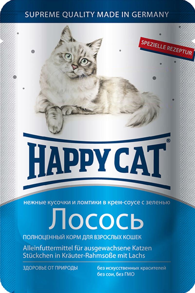 Консервы для кошек Happy Cat, лосось, 100 г1002306Консервы для кошек Happy Cat - полноценный корм, который обеспечивает правильное и разнообразное питание кошки. Это очень вкусный и натуральный корм предлагает качественно отобранные ингредиенты, чтобы порадовать даже самую привередливую кошку. Уникальная технология приготовления позволяет сохранить все ценные свойства натуральных продуктов, чтобы ваш питомец был здоров и полон сил. Состав: мясо и мясопродукты, рыба и рыбные продукты (лосось - 4,0%), злаки, молоко и молочные продукты, зелень (0,5%), минеральные вещества, инулин (0,1%). Аналитический состав: сырой протеин 8,5 %, сырой жир 5,5 %, сырая зола 2 %, сырая клетчатка 0,3 %, влажность 83%. Витамины/кг: витамин D3 250МЕ, витамин Е 15 мг, биотин 20 гр. Микроэлементы/кг: медь 1 мг, марганец 1 мг, цинк 18 мг. Антиоксиданты/кг: таурин 445 мг. Товар сертифицирован.