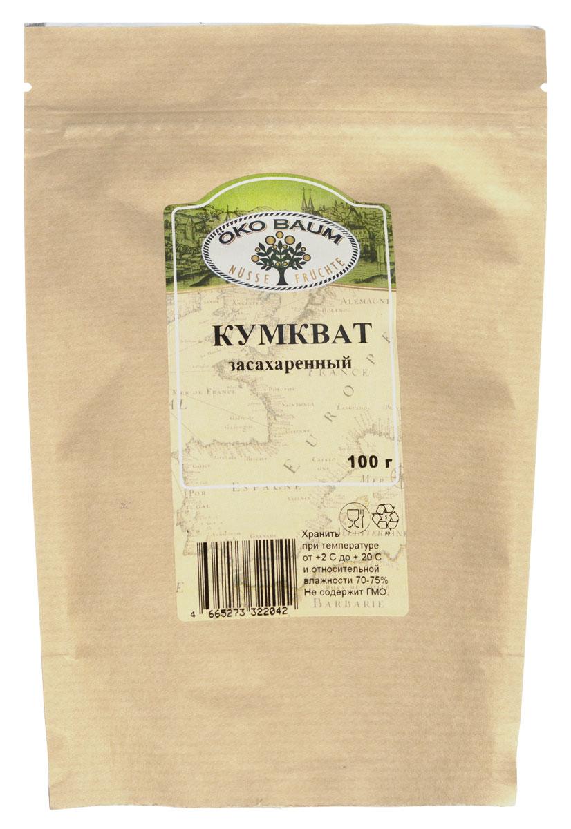 Oko Baum кумкват засахаренный, 100 г4665273322042Кумкват (фортунелло) - является чрезвычайно полезным цитрусовым. Этот небольшой, величиной с грецкий орех, ярко-оранжевый фрукт отличается особыми полезными свойствами. Чтобы получить максимальную пользу от еды мудрецов (так тоже называют кумкват), в пищу употребляют и мякоть, и кожуру плода, в том числе и в сушеном виде. В вяленом кумквате сохраняются все полезные свойства свежего фрукта. Как и все цитрусы, плод богат витамином С, исключительно полезным для иммунной и нервной системы человека. Введение дополнительного витамина С в рацион осенью и зимой – залог того, что иммунитет человека справится с нашествием вирусов. Кроме того, кумкват содержит витамины А и Е. Поэтому его часто рекомендуют есть людям склонным к различным проблемам с сетчаткой глаза. Витаминный состав кумквата – настоящая находка для активных, регулярно тренирующихся людей. Ведь именно эти полезные вещества позволяют восстанавливаться после нагрузки быстрее и эффективней.