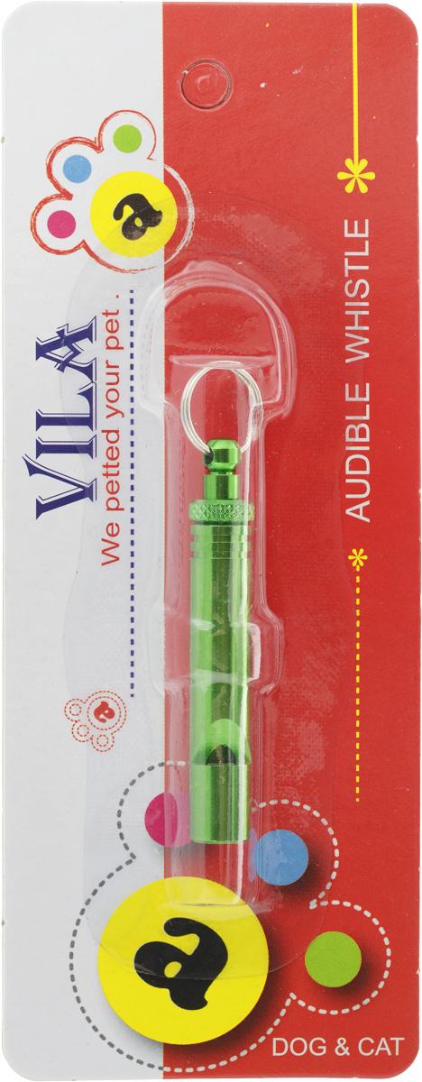 """Свисток для собак """"Vila"""", ультразвуковой, цвет: зеленый, длина 5 см 7003_зеленый"""