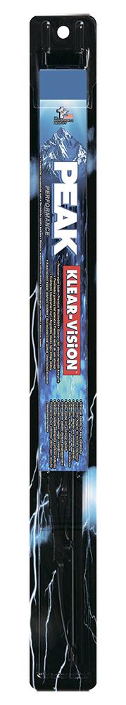 Щетка стеклоочистителя Peak Klear-Vision, каркасная, 40 см, 1 шт7060003Щетка стеклоочистителя Peak Klear-Vision имеет традиционную каркасную конструкцию. Совместима со стандартным поводками типа hook (крючок), Side pin (боковой штырь) и Bayonet arm, благодаря чему ее легко устанавливать. Увеличенный размер чистящей поверхности позволяет более тщательно очищать поверхность стекла. Несколько точек давления обеспечивают равномерное прилегание к стеклу. Каркас из нержавеющей стали, шлиц и клепки обеспечивают высокие эксплуатационные характеристики.