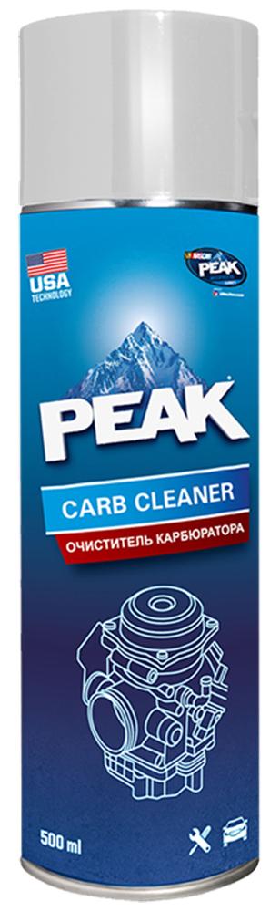 Очиститель карбюратора и дроссельной заслонки PEAK CARB CLEANER, 500 мл7330002Аэрозольный растворитель загрязнений PEAK CARB CLEANER (смолы, лак, парафин, накипь, нагар, сажа), образующихся в карбюраторе в процессе работы двигателя. Удаляет загрязнения с внешних и внутренних поверхностей, дроссельной заслонки, системы дозирования воздуха и отработанных газов (EGR). Восстанавливает исходные рабочие характеристики – повышает экономичность и приемистость работы двигателя. Качественное очищение полностью или частично разобранного карбюратора. Может использоваться как универсальный очиститель неокрашенных поверхностей деталей и механизмов. ПРЕИМУЩЕСТВА: Высокая проникающая способность Высокое давление распыления Экономичность в применение Не требует демонтажа и разборки Удаляет сложные загрязнения Не воздействует на озоновый слой ПРИМЕНЕНИЕ: Внимание! ! – Избегайте попадания на горячие поверхности, окрашенные и пластиковые детали. !! – Будьте внимательны при снятом воздушном фильтре, неаккуратное обращение с...