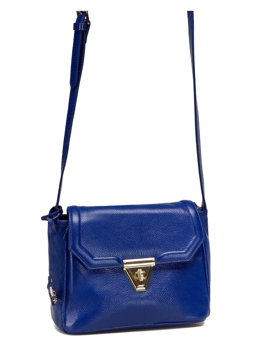 Сумка женская Labbra, цвет: синий. L-SD1032L-SD1032Изящная маленькая сумка Labbra выполнена из натуральной кожи с зернистой фактурой, декорирована золотистой фурнитурой и подвеской в виде символики бренда. Сумка имеет вместительное основное отделение, которое закрывается клапаном на застежку-вертушку и дополнительно на молнию, и прорезной карман на молнии с тыльной стороны изделия. Внутри имеется прорезной карман на застежке-молнии и два накладных кармана для телефона и мелочей. Изделие оснащено практичным плечевым ремнем, выполненным из кожи Прилагается фирменный текстильный чехол для хранения. Роскошная сумка внесет элегантные нотки в ваш образ и подчеркнет ваше отменное чувство стиля. Лаконичный цвет и простая форма помогут ей вписаться даже в самый сложный и продуманный гардероб.