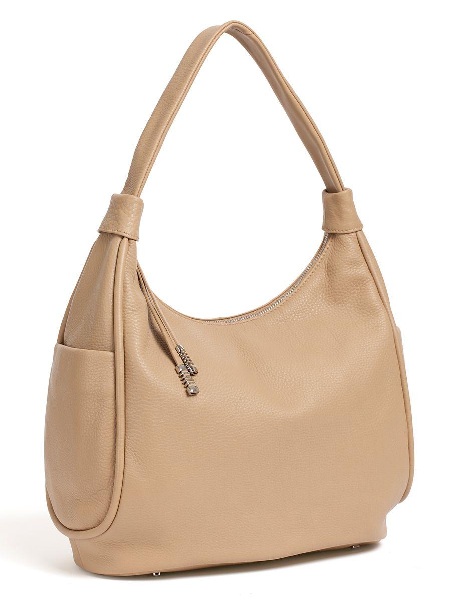 Сумка женская Palio, цвет: бежевый. 14512A173298с-1Стильная женская сумка Palio выполнена из натуральной кожи. Изделие имеет одно отделение, закрывающееся на застежку-молнию. Внутри сумки находятся два накладных открытых кармана и прорезной карман на застежке-молнии. Снаружи, на задней стенке расположен прорезной карман на застежке-молнии, по бокам - накладные карманы на магнитных кнопках. Сумка оснащена одной удобной ручкой. Основание изделия защищено от повреждений металлическими ножками.