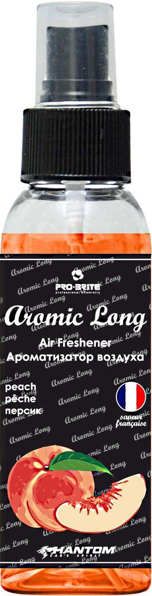 Ароматизатор воздуха автомобильный Phantom Aromic Long, персик, спрей 100 млРН4044Ароматизатор воздуха на основе натуральных отдушек с насыщенным ароматом. Применим в любых помещениях и салонах автомобилей. Нейтрализует неприятные запахи и придает воздуху свежесть.