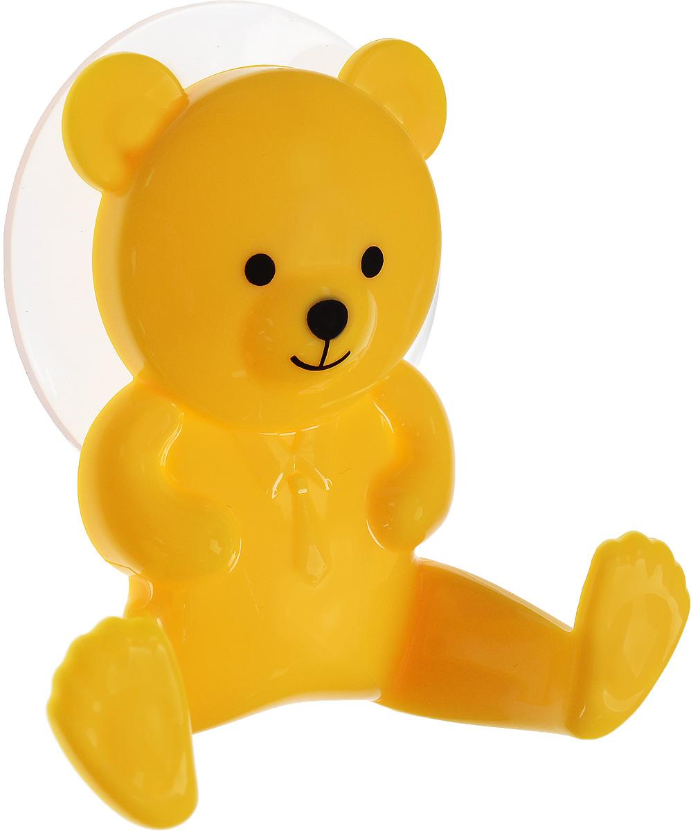 Крючок двойной Artmoon Медведь, на вакуумной присоске699409Двойной крючок Artmoon Медведь выполнен из сверхпрочного пластика в виде медвежонка. Крепится на гладких воздухонепроницаемых нешероховатых поверхностях при помощи вакуумной присоски. Такой крючок прекрасно подойдет для ванной комнаты или кухни, надежно выдержав все, что вы на него повесите. Максимальный вес до 3 кг. Размер крючка: 9 х 3 х 8,5 см.