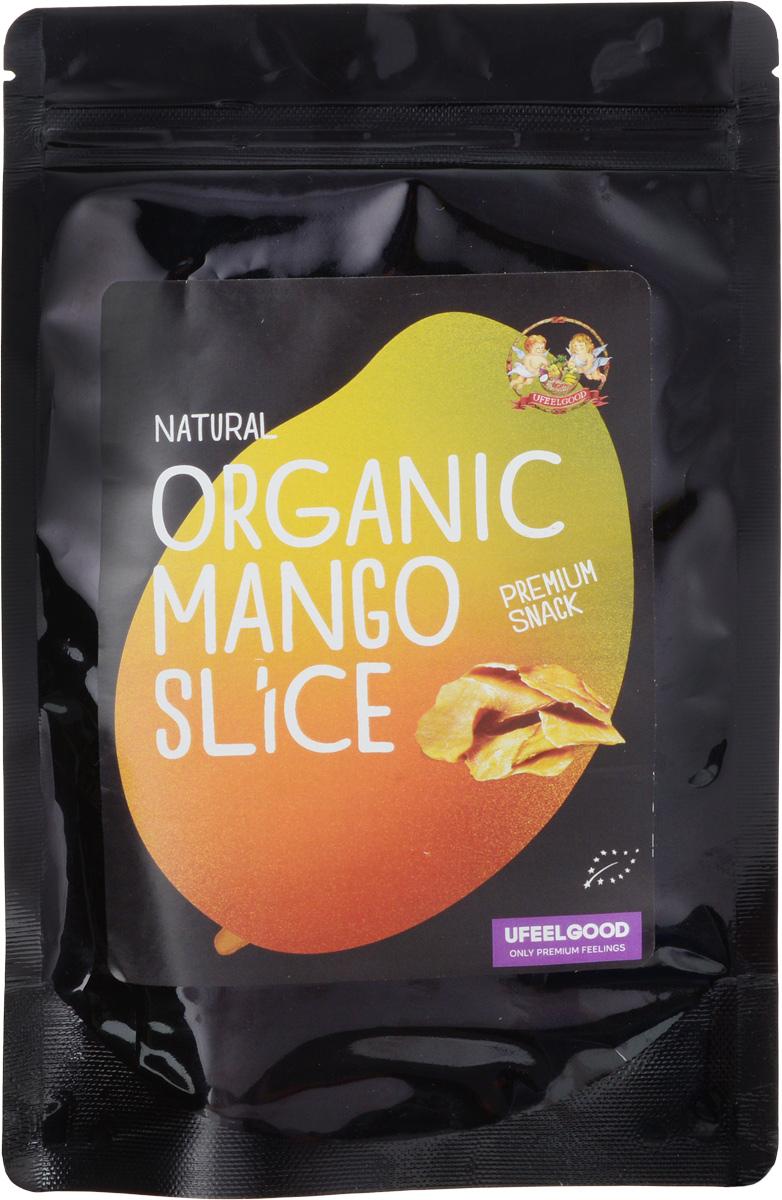 UFEELGOOD Organic Mango Slice органический вяленый манго слайсами, 100 г0120710Мягкие дольки манго от UFEELGOOD полностью сохраняют нежность и оригинальность тропического вкуса. Сушеный манго является более концентрированным и содержит огромное количество полезных микроэлементов.Удивительный вкус манго увлечёт больших и маленьких сладкоежек. Фрукт богат пищевыми волокнами, способен долго поддерживать сытость, полезен для здоровья пищеварительной системы. Для ребёнка сушеный манго вполне может заменить конфеты, он отличается сладким насыщенным вкусом, но при этом не содержит вредных элементов.Витамин А, который найден в манго, обладает антиоксидантными свойствами, защищает организм человека от губительного воздействия свободных радикалов, предотвращает старение кожи , сохраняет молодость.Сушеный манго удобно брать с собой в путешествия – это быстрый, вкусный и питательный перекус в дороге. Добавление в выпечку этого экзотического фрукта подарит вашим блюдам неповторимый вкус и аромат. Смешайте кусочки сушеного манго с мороженым или добавьте в салат.Органический манго UFEELGOOD выращен и собран на плантациях Шри-Ланки. Фрукт содержит огромное количество пищевых волокон и натрия. Удобная упаковка бережно сохраняет сушеные дольки в целости. Рекомендуется хранить в сухом прохладном месте.