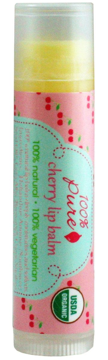 100% Pure Бальзам для губ Вишня (USDA Organic) 4,25 г1LBOCОрганический бальзам для губ смягчает, питает и глубоко увлажняет нежную кожу губ.