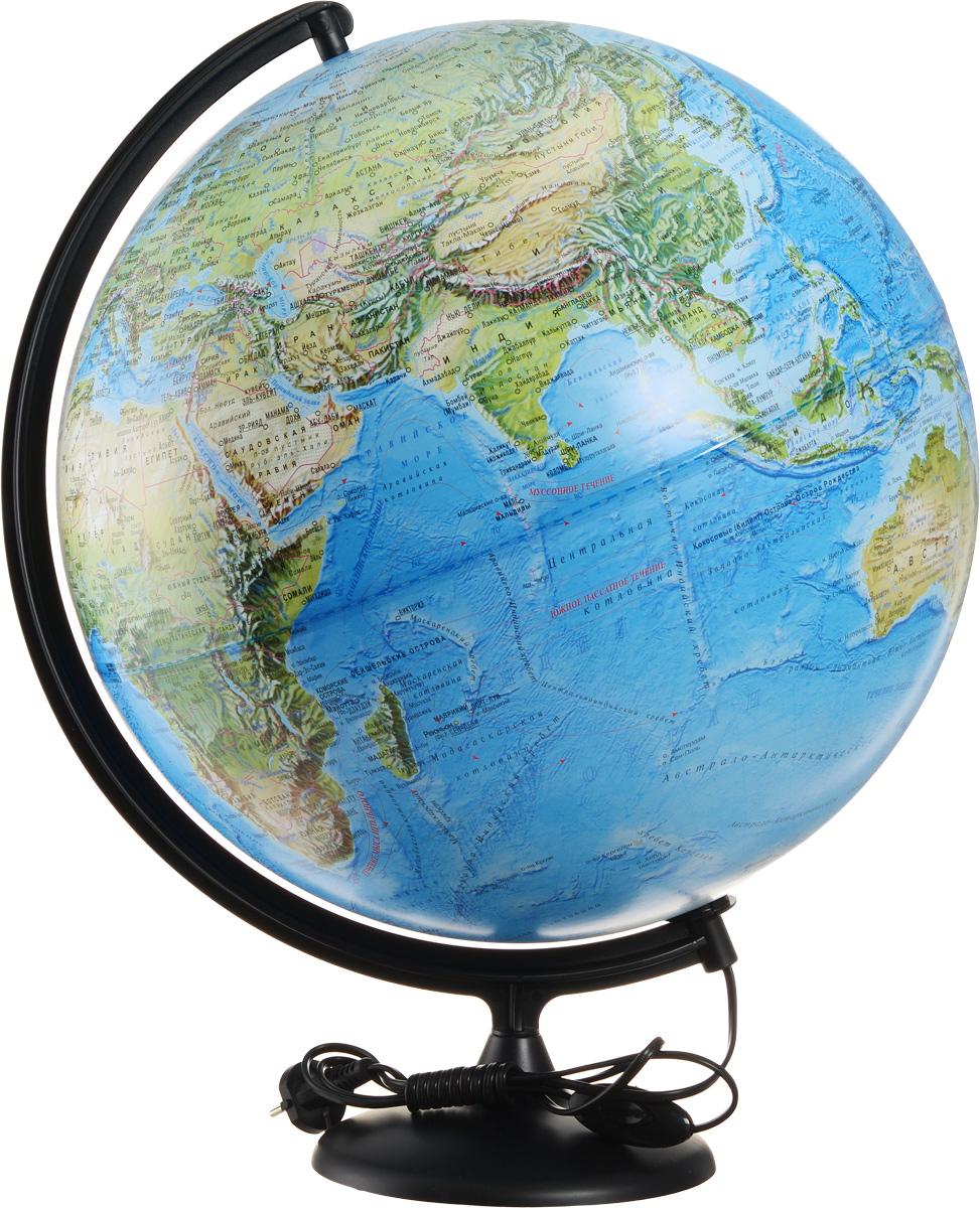 Глобусный мир Глобус с физической/политической картой мира диаметр 42 см с подсветкой 10355