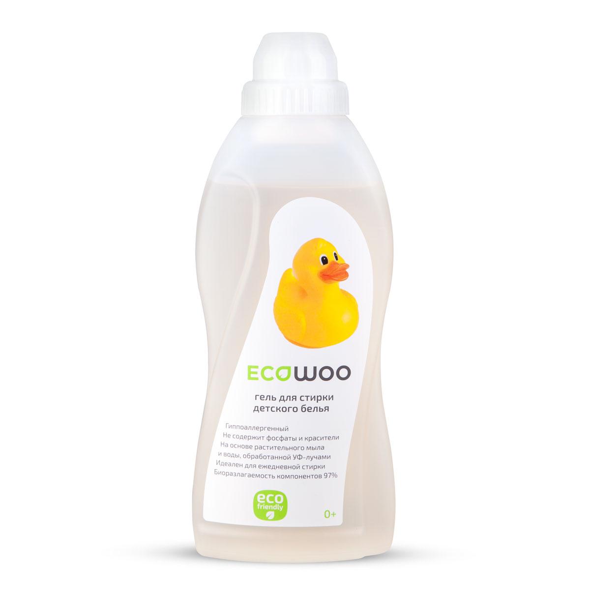 Гель для стирки детского белья EcoWoo, гипоаллергенный, 700 млЕ088156Гипоаллергенный гель EcoWoo подходит для стирки детского белья с первых дней жизни ребенка. Средство на основе растительного мыла и воды, обработанной УФ- лучами, не содержит фосфаты и красители. Идеален для ежедневной стирки. Биоразлагаемость компонентов 97%. Рецептура на основе натурального мыла разработана специально для чувствительной детской кожи с первых дней жизни. Состав: вода специально подготовленная, АПАВ 5-15%, растительное мыло 5-15%, НПАВ менее 5%, гипоаллергенная отдушка, консервант. Товар сертифицирован.