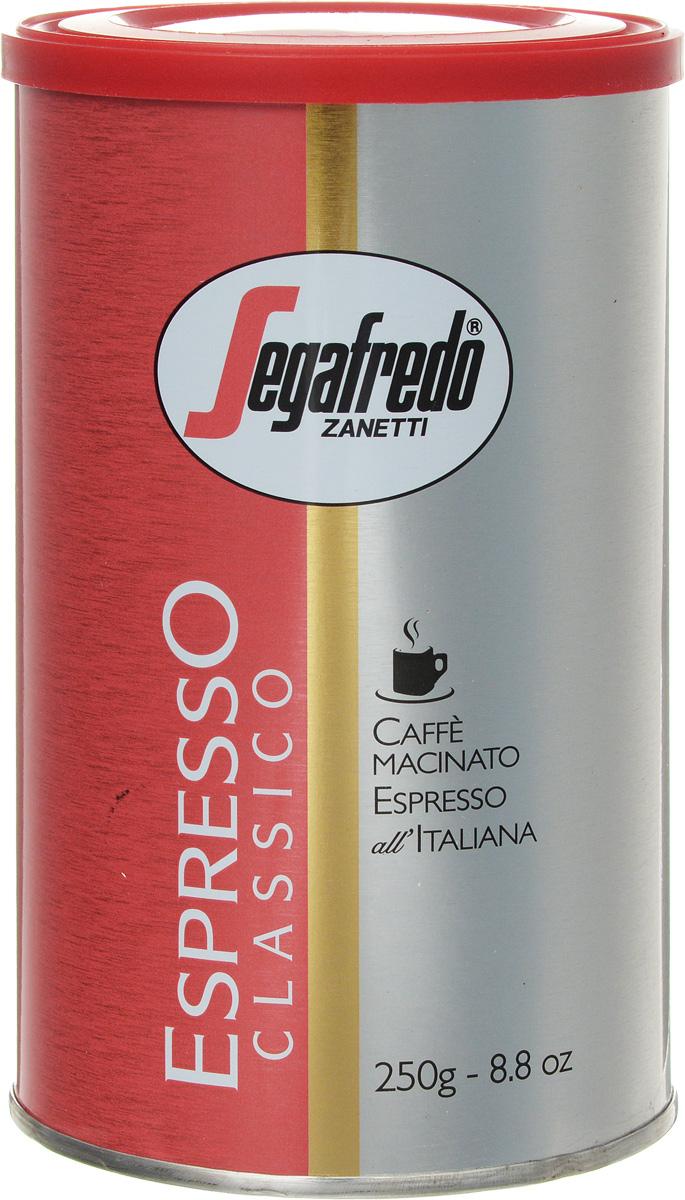 Segafredo Espresso Classico кофе молотый, 250 г401.001.012Segafredo Espresso Classico - супер-премиум бленд молотых кофейных зерен для тех, кто любит роскошь и может позволить себе самое лучшее в лучших традициях и технике приготовления настоящего Итальянского эспрессо.