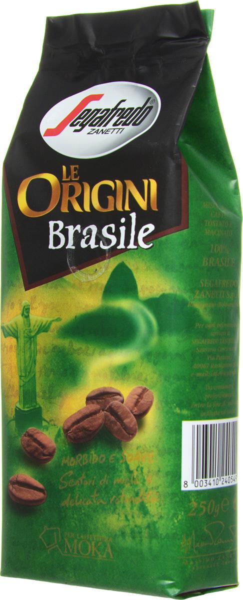 Segafredo Le Origini Brasile кофе молотый, 250 г0120710Segafredo Le Origini Brasile характеризуют нежные нотки меда и мягкий обволакивающий вкус. Кофе производится на крупнейшей кофейной плантации в мире Носа-Сеньора-да-Гия - самого сердца штата Минас-Жерайс. Это напиток с превосходным сочетанием мягкого вкуса и тонкого медового аромата.