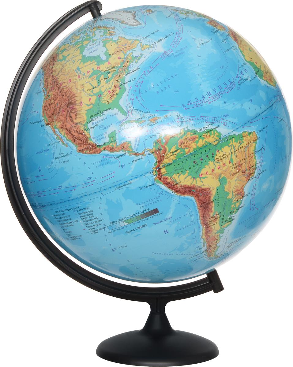 Глобусный мир Глобус с физической картой мира диаметр 42 см 10322