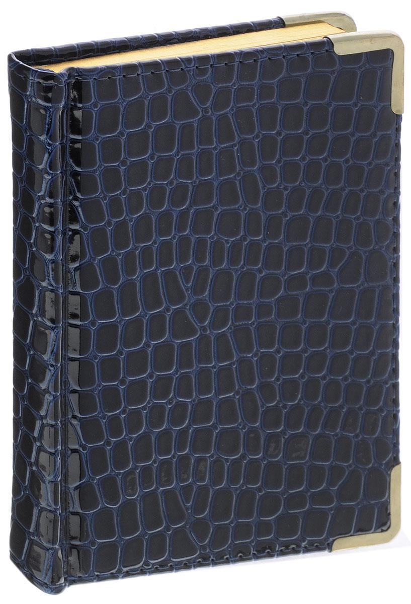 Listoff Записная книжка Iguana 96 листов в клетку цвет темно-синийКЗК6961665Записная книжка Listoff Iguana прекрасно подойдет в качестве подарка. Обложка выполнена из высококачественной искусственной кожи с наполнителем из поролона, что придает книжке опрятный и строгий внешний вид. Внутренний блок прошит, что гарантирует отсутствие потери листов. Металлические закругленные углы защищают записную книжку при активном использовании. Книжка содержит 96 листов в клетку. Книжка имеет ляссе и трехсторонний позолоченный обрез. Записная книжка Listoff Iguana станет достойным аксессуаром среди ваших канцелярских принадлежностей. Она пригодится как для деловых людей, так и для любителей записывать свои мысли, писать мемуары или делать наброски новых стихотворений.