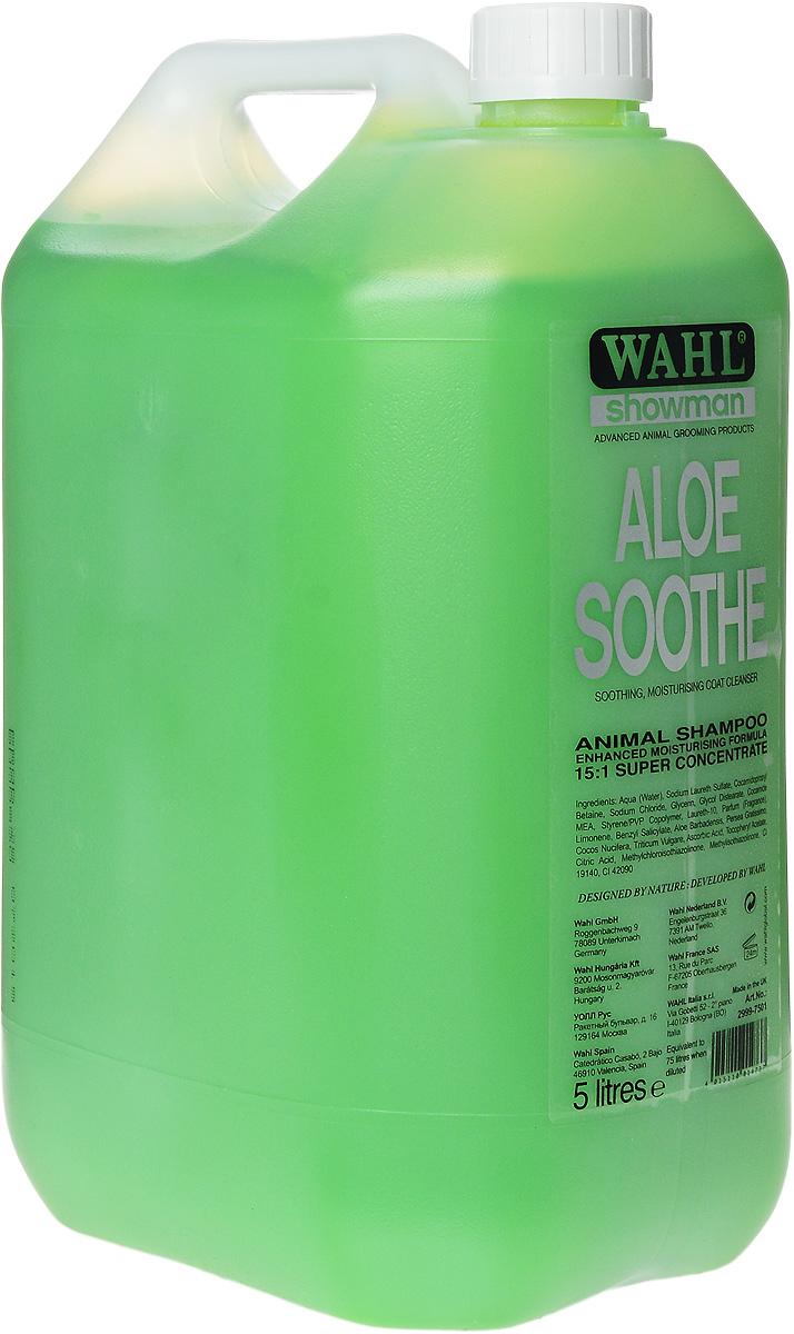 Шампунь для животных Wahl Aloe Soothe, концентрированный, с алоэ, 5 л2999-7501Шампунь для животных Wahl Aloe Soothe создан на основе натуральных ингредиентов, не содержит опасных химических компонентов. Идеально сбалансированная формула, включающая экстракты алоэ вера, авокадо, кокоса и пшеницы, разработана для эффективного очищения и ухода за шерстью, не нарушая естественного баланса кожи. Входящие в состав витамины Е и С в совокупности с натуральными экстрактами помогают сохранять шерсть животного здоровой и блестящей. Разработан для профессионального использования. Может применяться в домашних условиях при строгом соблюдении инструкции. Разводится 1:15. Способ применения: Тщательно встряхнуть флакон. В отдельной емкости подготовить раствор: 1 часть концентрата и 15 частей теплой проточной воды. Наносить раствор на влажную шерсть. Тщательно вспенить массирующими движениями и затем смыть. Для лучших результатов рекомендуется оставить пену на шерсти на 5 минут, а затем смыть. Избегать попадания в глаза, нос и на другие чувствительные зоны. При...
