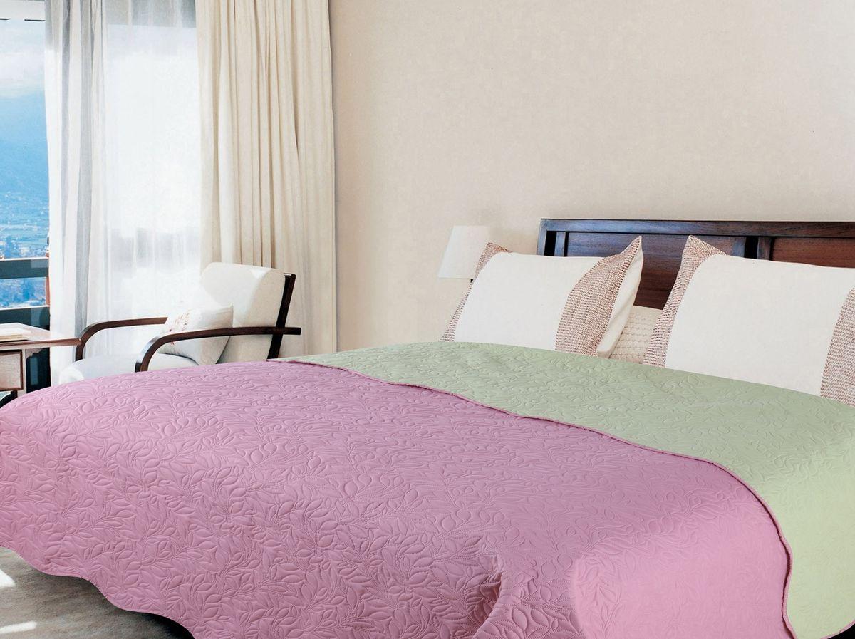 Покрывало Amore Mio Alba, цвет: розовый, зеленый, 200 х 220 см. 7544475444Покрывала Multi Amore Mio - Идеальное Решение для современного интерьера! Amore Mio – Комфорт и Уют - Каждый день! Amore Mio предлагает оценить соотношение цены и качества коллекции. Разнообразие ярких и современных дизайнов прослужат не один год и всегда будут радовать Вас и Ваших близких сочностью красок и красивым рисунком. Покрывало Multi Amore Mio - однотонное, с кантом. Каждая сторона имеет свой цвет, поэтому настроение можно поменять, лишь перевернув покрывало на другую сторону. Покрывало приятное, мягкое, легкое, может послужить не только на кровати, но и в качестве облегченного одеяла, а также как дорожного пледа, великолепно в качестве покрывала для пикников. Занимает мало места, легко стирается, неприхотливо в уходе, приятным бонусом станет низкая цена.