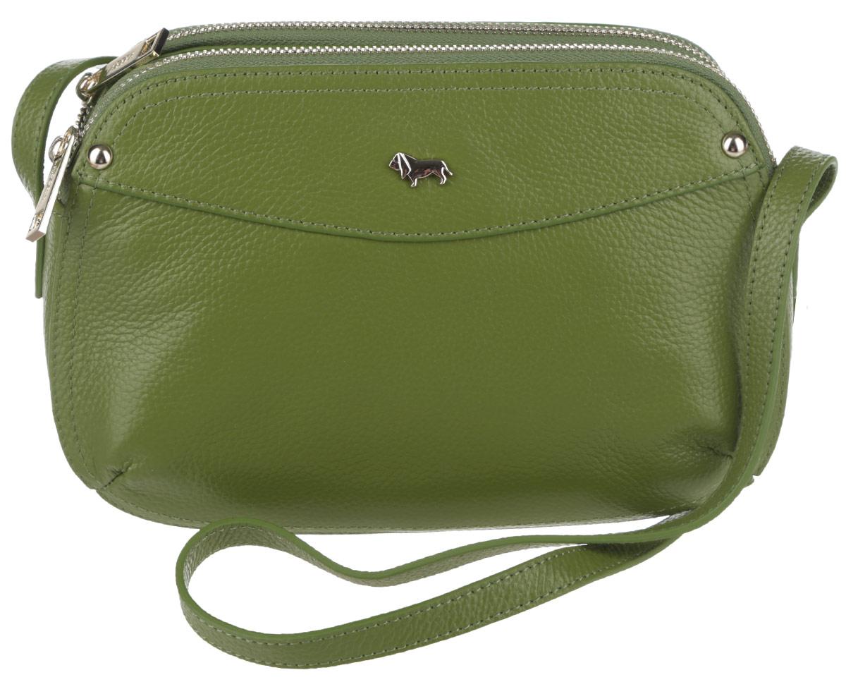 Сумка женская Labbra, цвет: зеленый. L-SD1034L-SD1034Стильная женская сумка Labbra выполнена из натуральной кожи с зернистой фактурой, оформлена металлической фурнитурой с символикой бренда. Изделие содержит три отделения, два из которых закрываются на застежку-молнию, а третье при помощи магнитов. Внутри сумки расположены два накладных кармашка для мелочей и врезной карман на застежке-молнии. Задняя сторона сумки дополнена врезным карманом на молнии. Изделие оснащено практичным плечевым ремнем регулируемой длины. Оригинальный аксессуар позволит вам завершить образ и быть неотразимой.