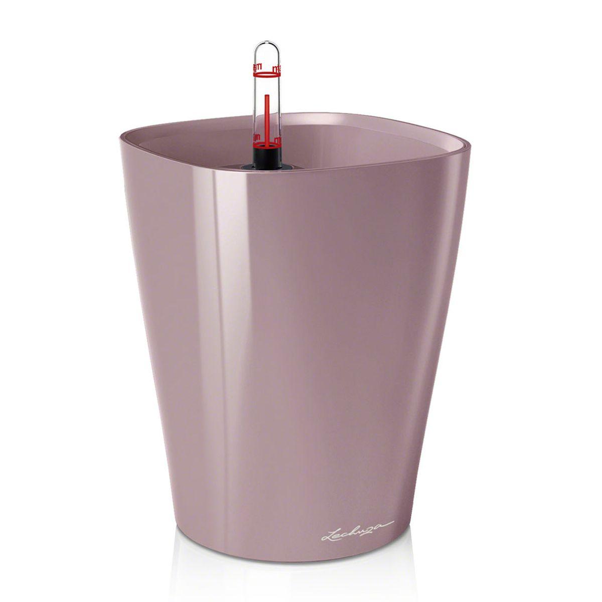 """Кашпо Lechuza """"Deltini"""", с системой автополива, цвет: фиолетово-пастельный, 14 х 14 х 18 см 14921"""