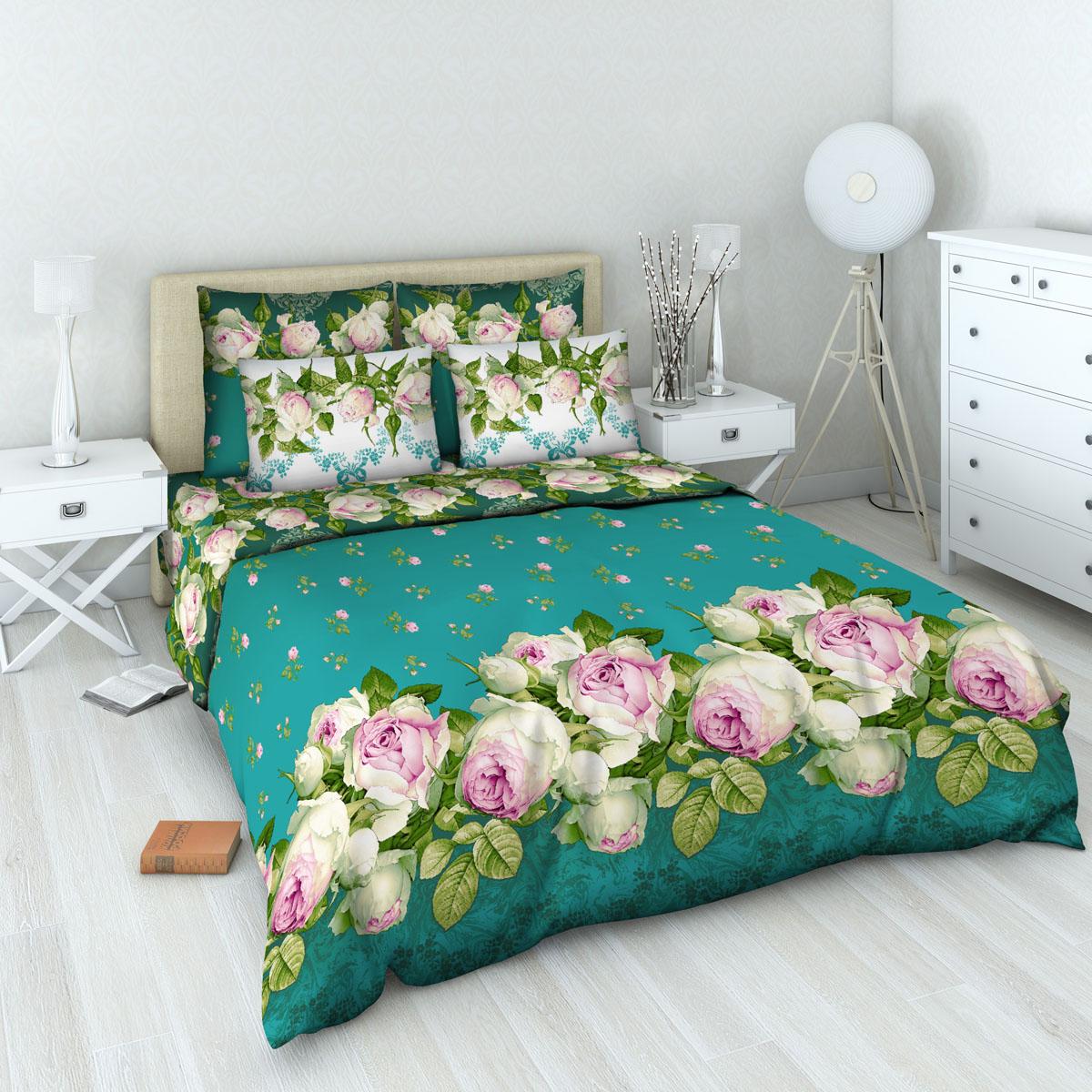 Комплект белья Василиса Французский аромат, 1,5-спальный, наволочки 70х70DAVC150Комплект постельного белья Василиса Французский аромат состоит из пододеяльника, простыни и двух наволочек. Дизайн - цветочный. Белье изготовлено из бязи (100% хлопка) - гипоаллергенного, экологичного, высококачественного, крупнозакрученного волокна, благодаря чему эта ткань мягкая, нежная на ощупь и очень прочная, не образует катышков на поверхности. При соблюдении рекомендаций по уходу, это белье выдерживает много стирок (более 70), не линяет и не теряет свою первоначальную прочность. Уникальная ткань обеспечивает легкую глажку.Приобретая комплект постельного белья Василиса Французский аромат, вы можете быть уверенны в том, что покупка доставит вам удовольствие и подарит максимальный комфорт.