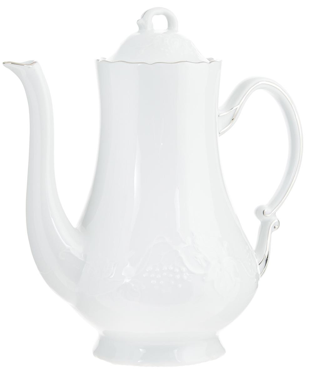 Кофейник Yves De La Rosiere Vendanges, 1,3 л6 929 130 019Кофейник Yves De La Rosiere Vendanges изготовлен из высококачественного фарфора и предназначен для красивой подачи кофе. Внешние стенки изделия оформлены цветочным рельефом. Изящный дизайн кофейника придется по вкусу и ценителям классики, и тем, кто предпочитает утонченность и изысканность. Диаметр по верхнему краю: 8,5 см. Высота (без учета крышки): 20,5 см. Диаметр основания: 9 см.