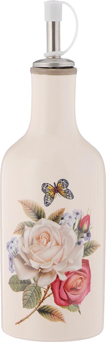 Бутылка для масла и уксуса Loraine Розы, 290 мл. 2170621706Бутылка Loraine Розы, выполненная из доломита, предназначена для хранения масла или уксуса. Горлышко оснащено металлическим разбрызгивателем с силиконовым уплотнителем. Вы нальете ровно столько масла, сколько нужно, не уронив ни одной лишней капли, ведь крышка с носиком снабжена специальным клапаном. Стенки бутылки светонепроницаемые, поэтому ее можно хранить в открытом шкафу, не волнуясь, что ваше лучшее оливковое масло потеряет вкус и аромат. Можно использовать в микроволновой печи и мыть в посудомоечной машине. Высота бутылки (с учетом крышки): 21 см. Диаметр основания: 6,5 см. Диаметр бутылки (по верхнему краю): 3 см.