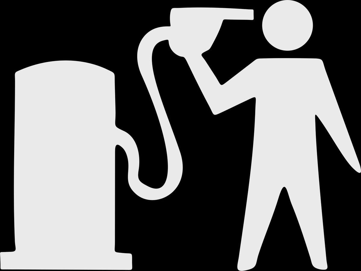 Наклейка автомобильная Оранжевый слоник Бензин, виниловая, цвет: белый авто в никополе газ бензин